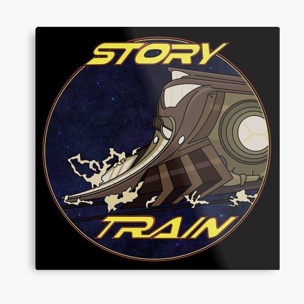 Story Train  Metal Print