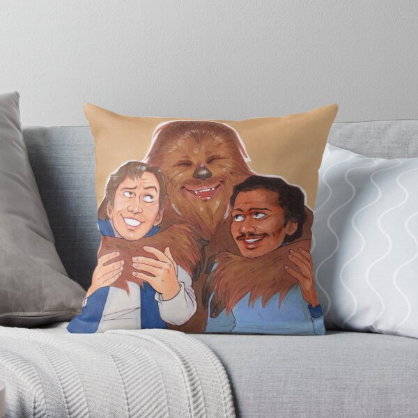Scoundrels and Best Friends Throw Pillow