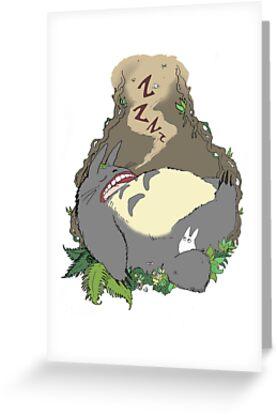 Sleepy Totoro by Ketchupstains