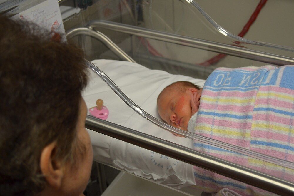 Precious Granddaughter, First Meeting. by Anthony Keevers
