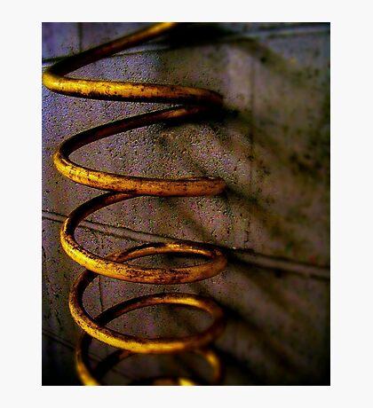Yellow Spiral Tube Photographic Print