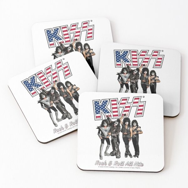 Kiss Rock and Roll all Night Coasters (Set of 4)