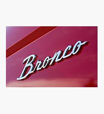 Bronco Photographic Print