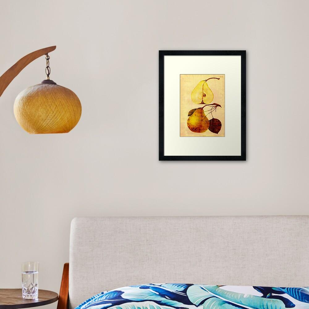Copper Pear Framed Art Print