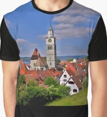 Historic Town of Ueberlingen - Überlingen Deutschland - Photo Graphic T-Shirt