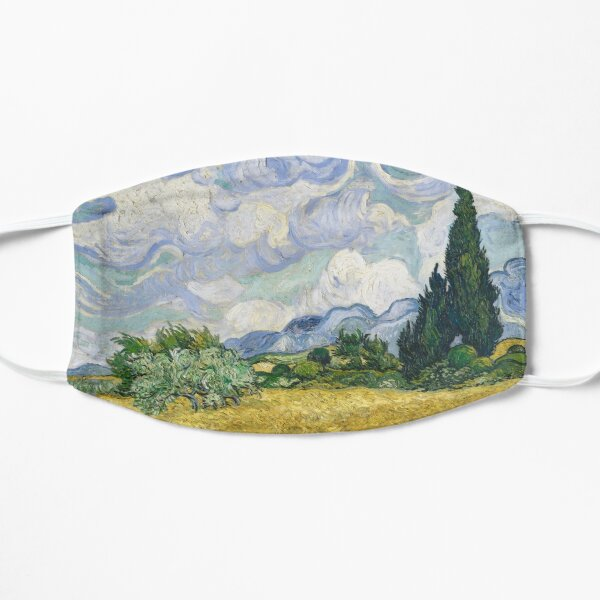 wheat field with cypresses Mask