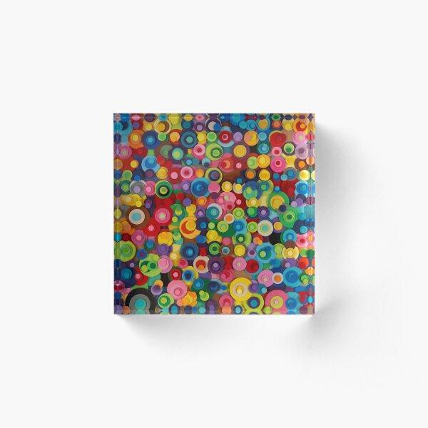 Gumdrops and lollipops  Acrylic Block