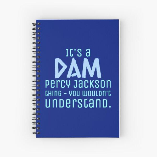 Es un dibujo de Dam Percy Jackson Thing Cuaderno de espiral