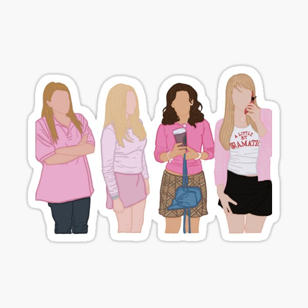 mean girls minimalist sticker Sticker