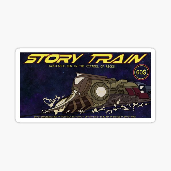 Story Train - AVAILABLE NOW Sticker