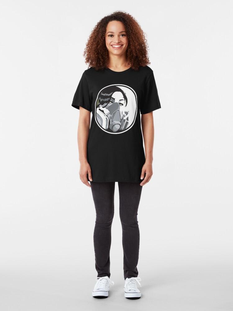 Alternate view of Graffiti mask Slim Fit T-Shirt