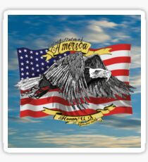 American Eagle and Flag Sticker