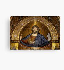 Christ Pantocrator mosaic, Monreale Canvas Print