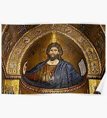 Christ Pantocrator mosaic, Monreale Poster