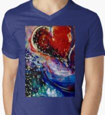 Hearts Adrift Mens V-Neck T-Shirt