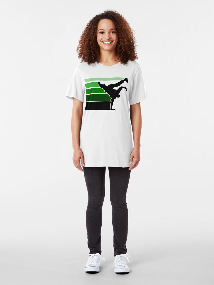 Alternate view of BBOY lines grn/blk Slim Fit T-Shirt