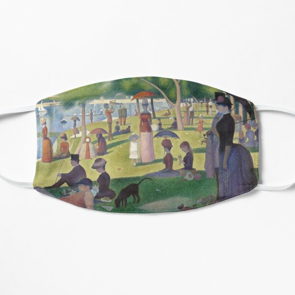 Beautiful Seurat Impressionist Face Mask Mask