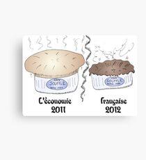 Le soufflé de la récession française de 2012 Canvas Print