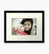Sweet Teddy Bear. Framed Print