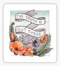Die Wahrheit ist da draußen (California Poppies) Sticker