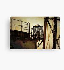 Sentry box in Alcatraz Canvas Print