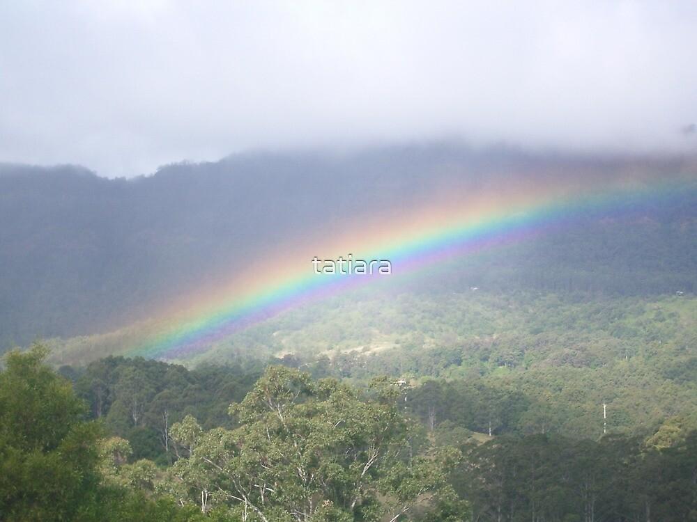 Rainbow over Sphinx Rock by tatiara