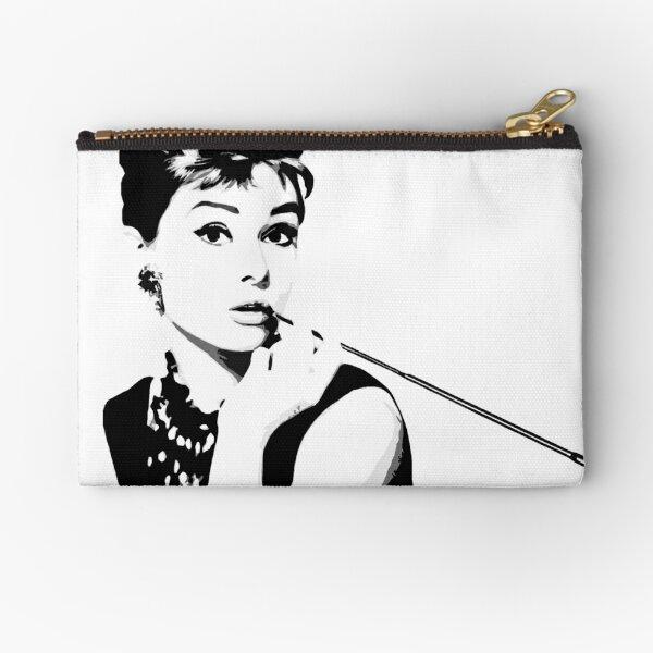 Audrey Hepburn Portrait Art Zipper Pouch