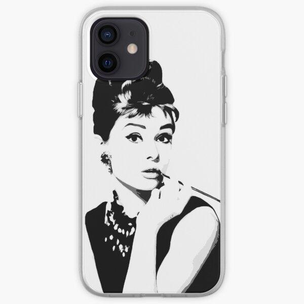Audrey Hepburn Portrait Art iPhone Soft Case