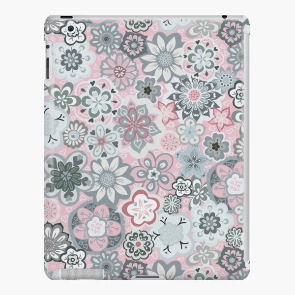 Beautiful Bouquet of Midsummer Blooms in light grey and pink iPad Snap Case