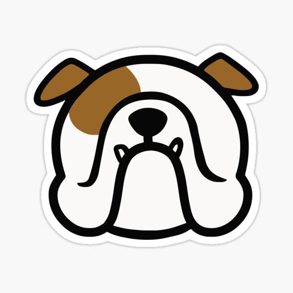 English Bulldog - white and brown BULLDOG - best Bully dog gift by smooshfaceunited  Sticker