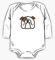 English Bulldog - white and brown - bold Bully dog by smooshfaceunited  One Piece - Long Sleeve