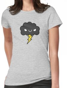 Adorable Kawaii Evil Happy Storm Cloud Womens Fitted T-Shirt