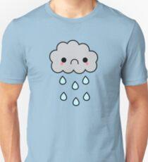 Adorable Kawaii Sad Rainy Storm Cloud T-Shirt