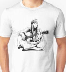 Joni Mitchell - Line Unisex T-Shirt