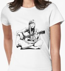 Joni Mitchell - Line Tailliertes T-Shirt