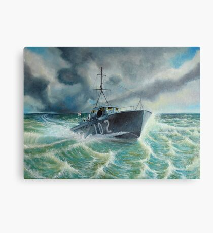 MTB 102 Defying the Storm Canvas Print