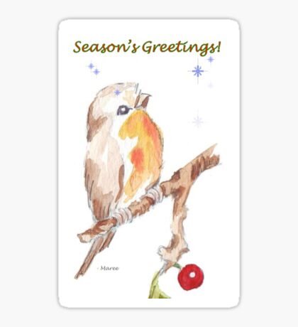 1 Little Bird - Season's Greetings! Sticker