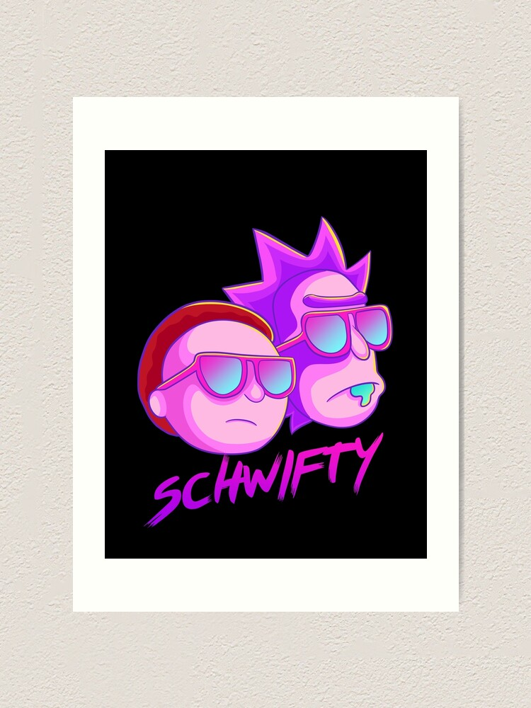 Alternate view of get schwifty Art Print