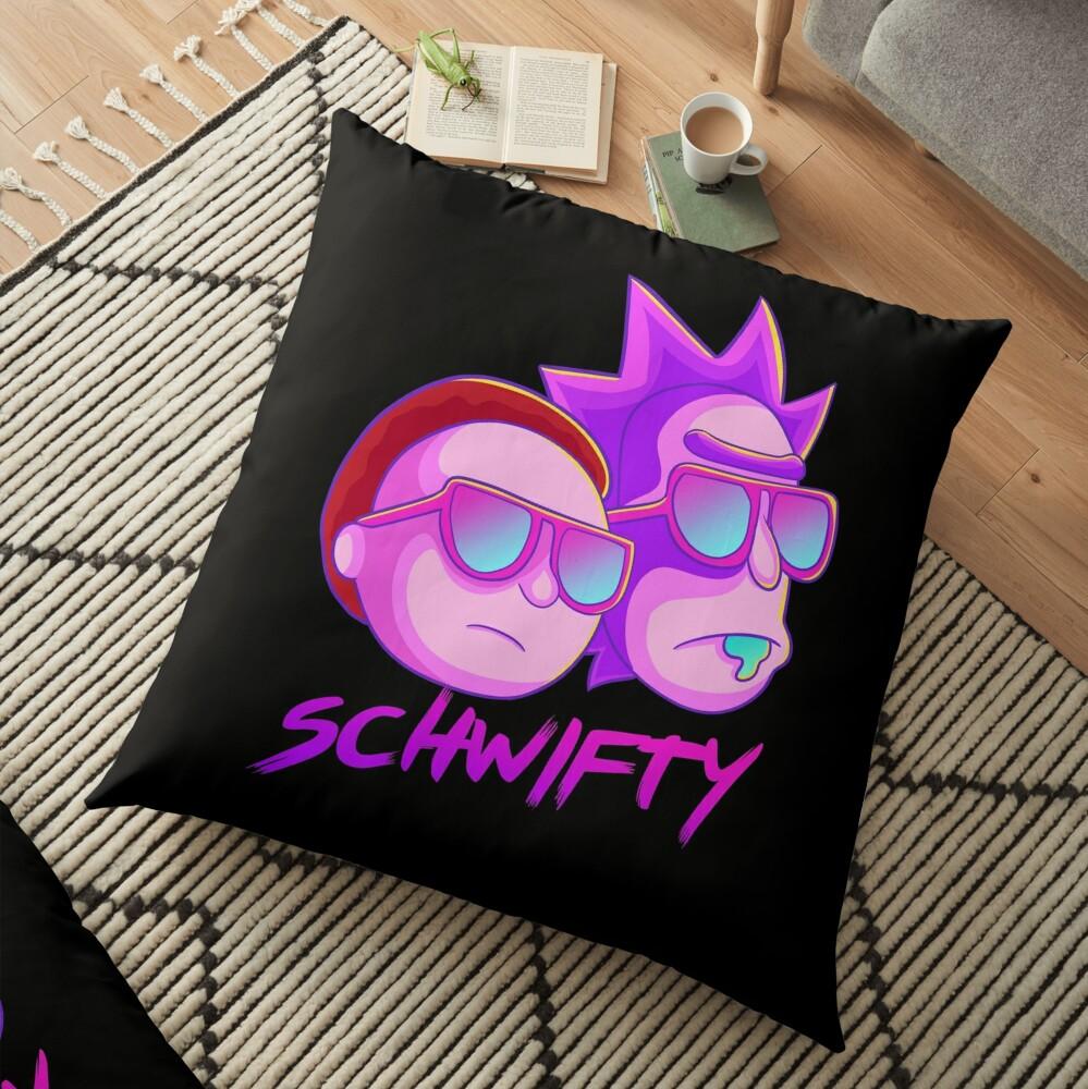 get schwifty Floor Pillow