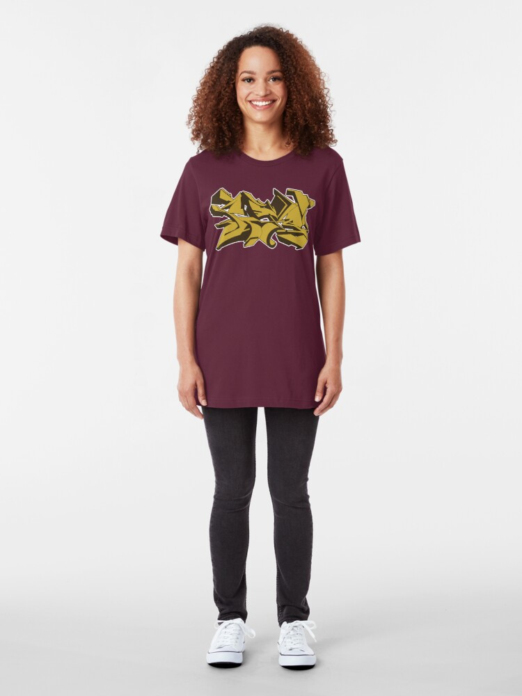 Alternate view of Style graffiti Gold Slim Fit T-Shirt