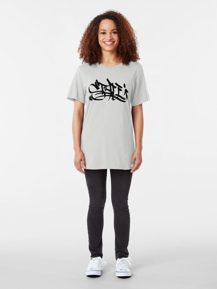 Alternate view of Style marker graffiti blk Slim Fit T-Shirt
