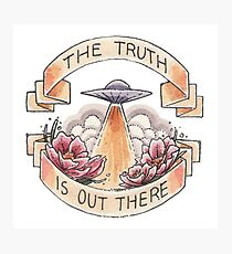 The Truth (Round) Photographic Print
