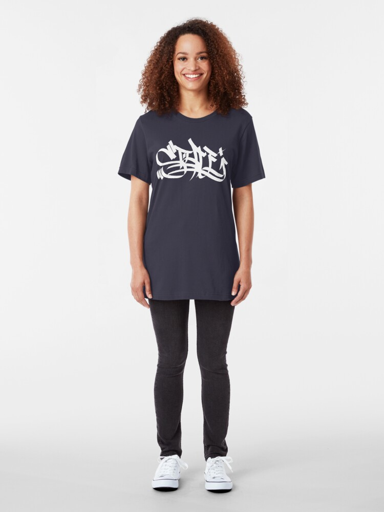 Alternate view of Style marker graffiti wht Slim Fit T-Shirt