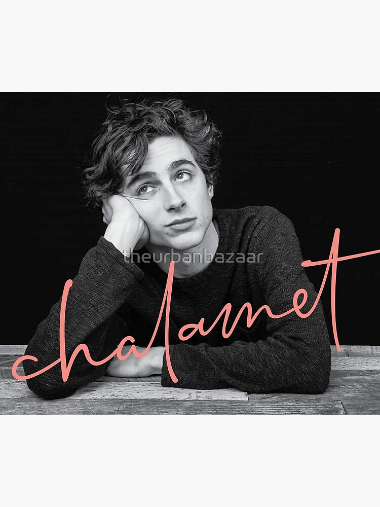 Chalamet, Awesome Merch of Timothee Chalamet by theurbanbazaar