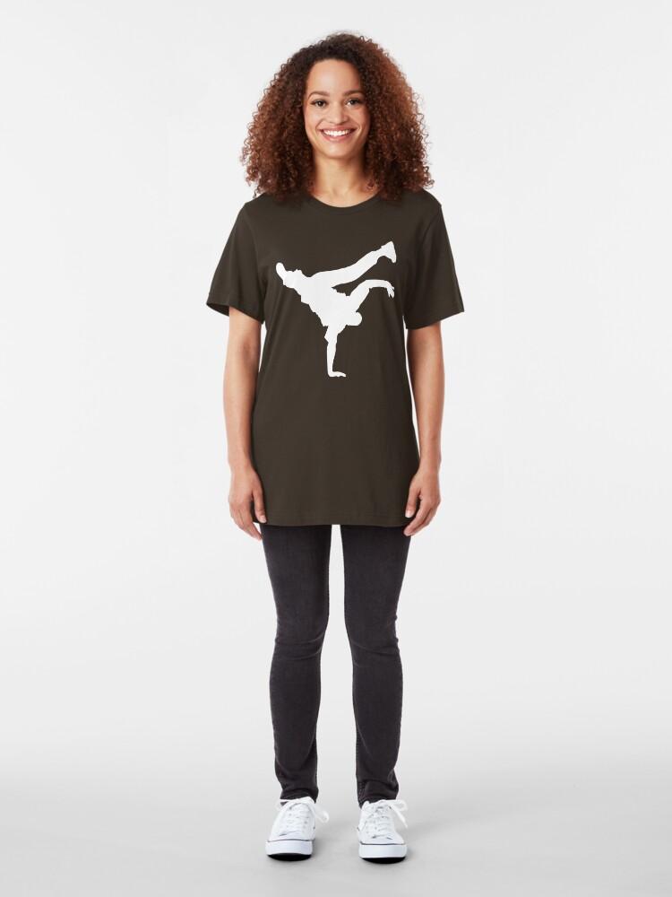 Alternate view of BBOY pose  Slim Fit T-Shirt