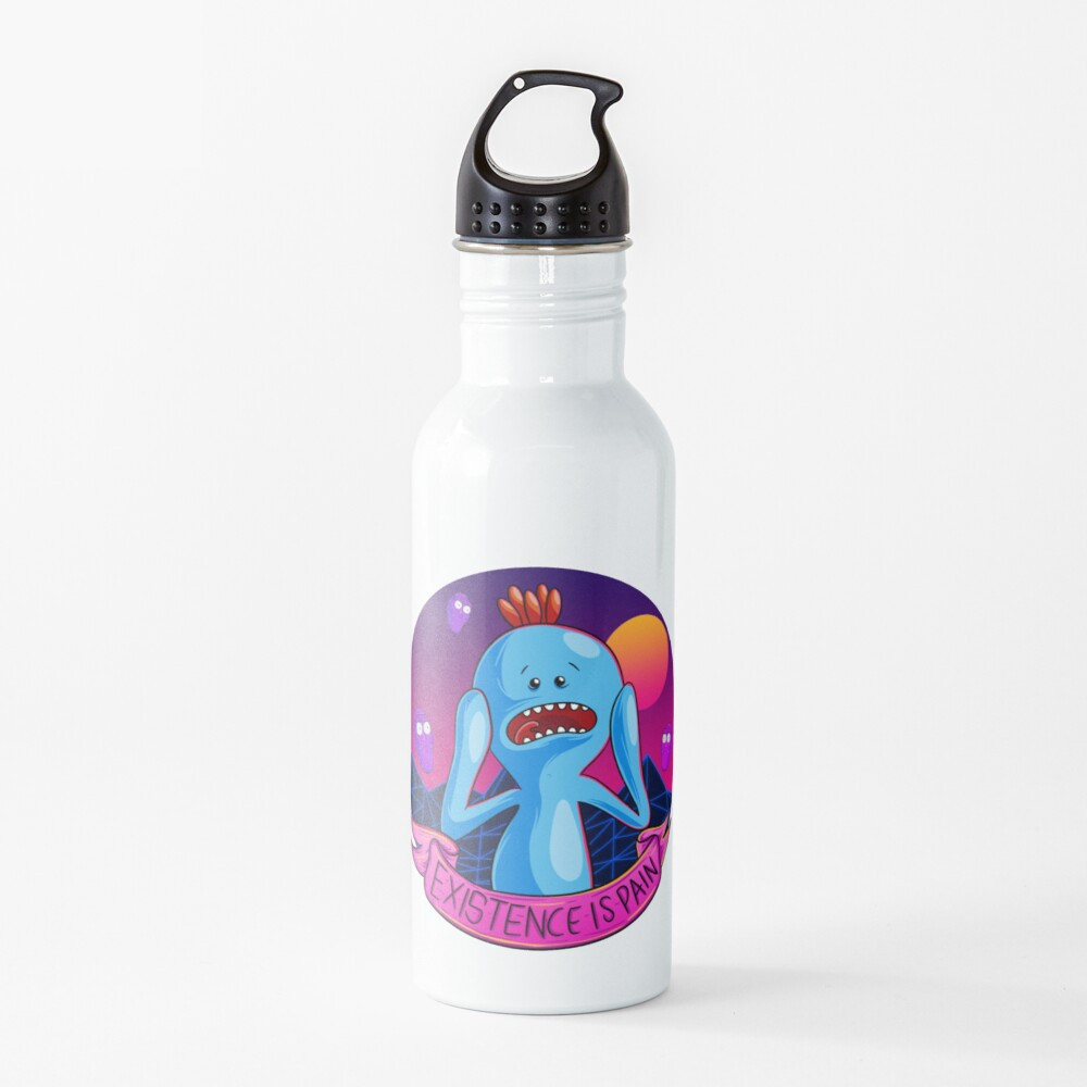 Existence is Pain mr meeseeks Water Bottle