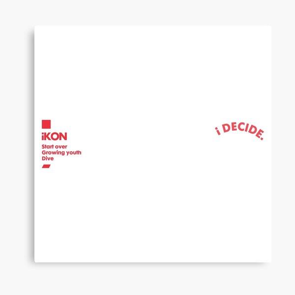 KPOP iKON I DECIDE Metal Print
