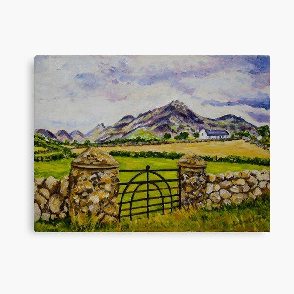 """Beneath Slieve Binnian, Mountains of Mourne, County Down."" Canvas Print"