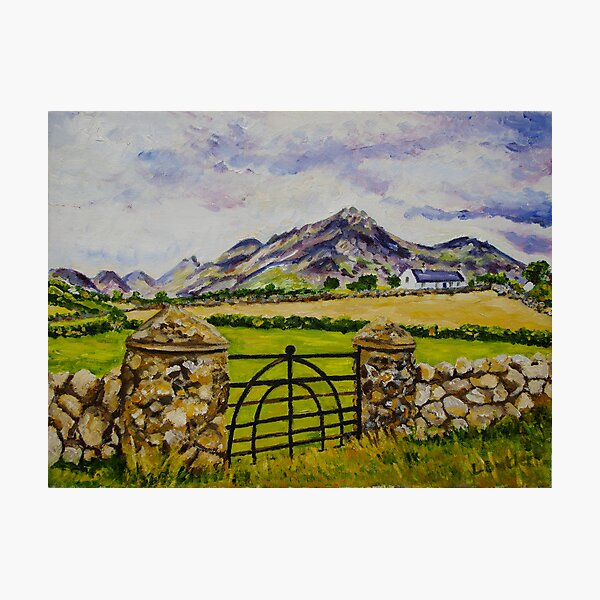 """Beneath Slieve Binnian, Mountains of Mourne, County Down."" Photographic Print"
