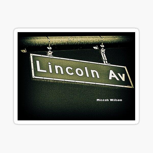 Lincoln Avenue, Pasadena, CA by Mistah Wilson Sticker
